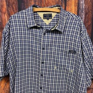 Tommy Jeans short sleeve checked shirt XL